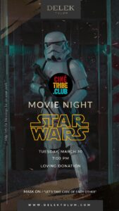 Cine Tribe Movie Nights Program invite